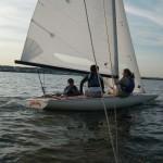 Aboard Chalupa: Quinn, Maggie and Karen
